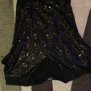 Sequins dressy top express size medium